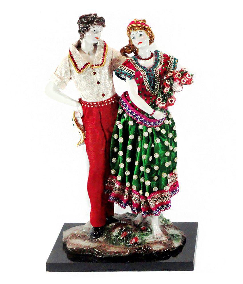 Paras Cute Couple Showpiece Red & Green
