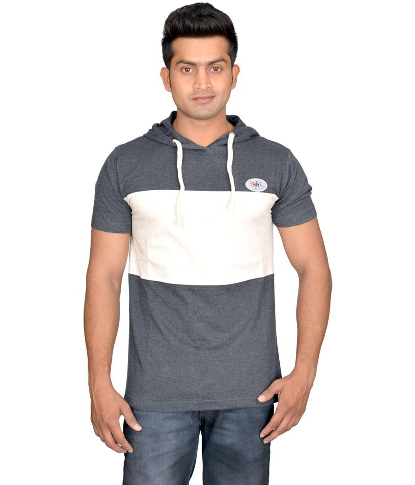 Avoir Envie Multicolour Half Sleeves Cotton Blend T-shirt