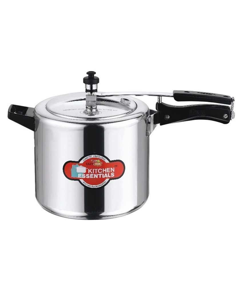 Kitchen-Essentials-Eazy-Kook-Aluminium-6.5-L-Pressure-Cooker-(Induction-Base,-Inner-Lid)