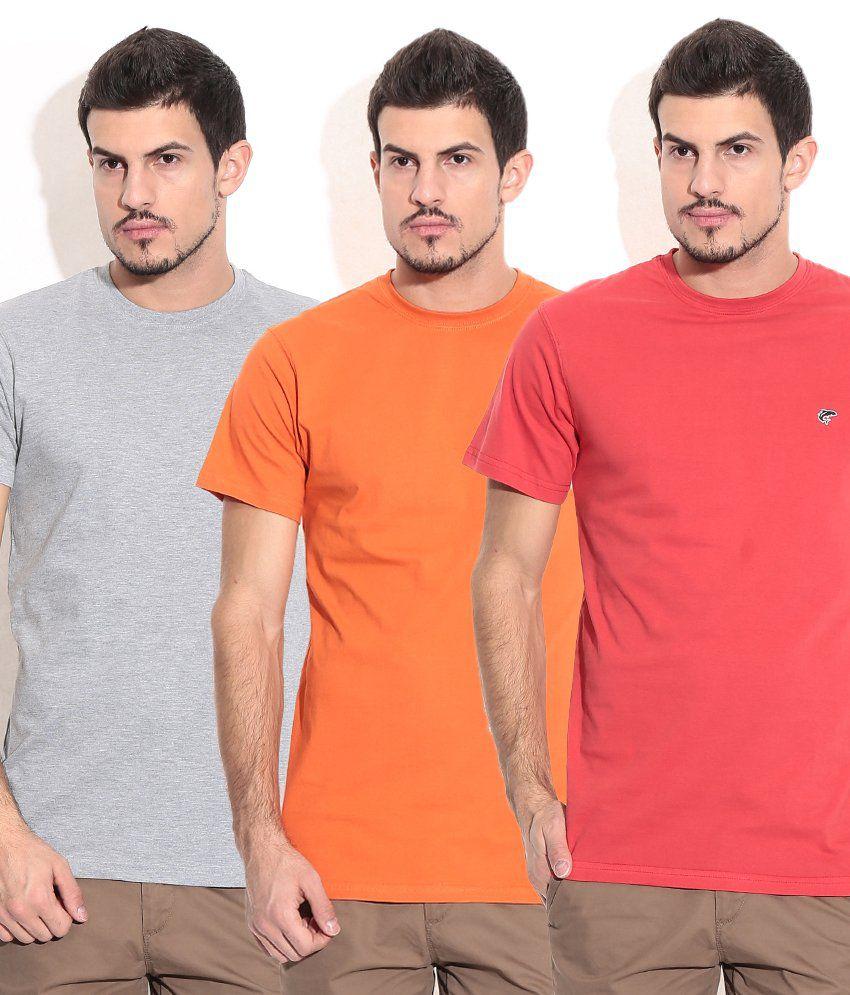 Ruggers Orange Cotton Blend T-shirt