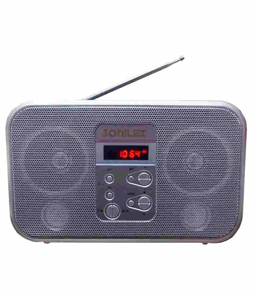 buy sonilex portable rechargeable fm radio usb sd player. Black Bedroom Furniture Sets. Home Design Ideas