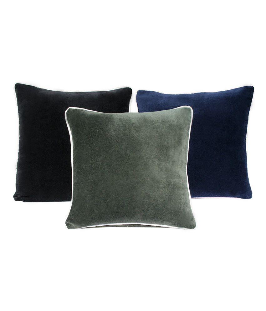 Sriam Multi Color Rock Edge Plain Cushion Cover