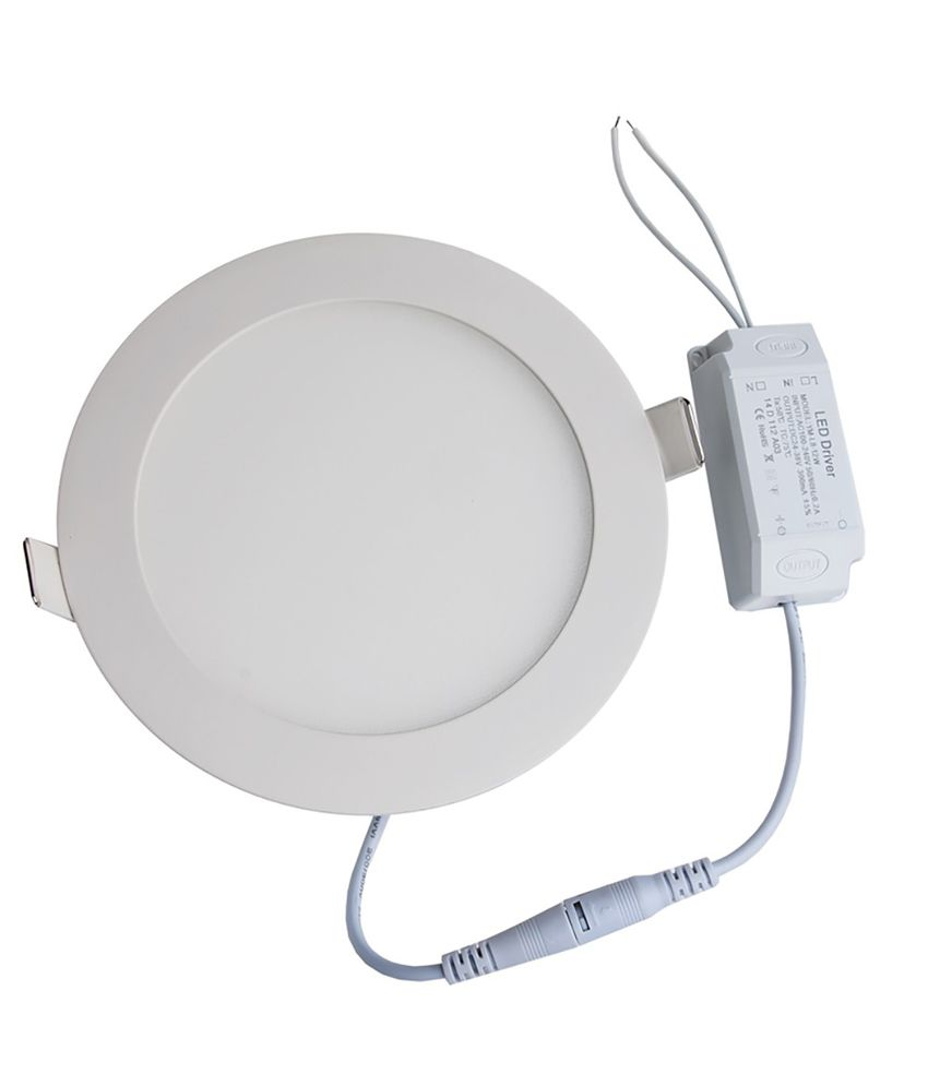 bloo white round 18w led slim panel light buy bloo white round 18w led slim panel light at best. Black Bedroom Furniture Sets. Home Design Ideas