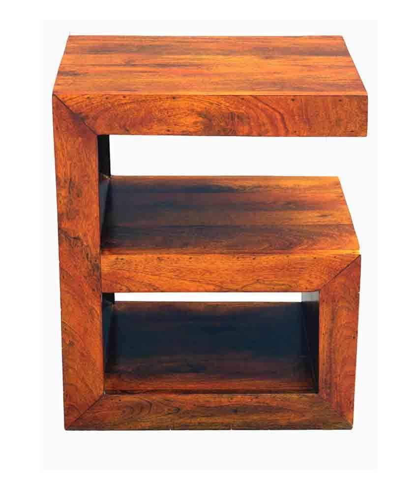 Junglewood Gama Teak Polish Multipurpose Side Table