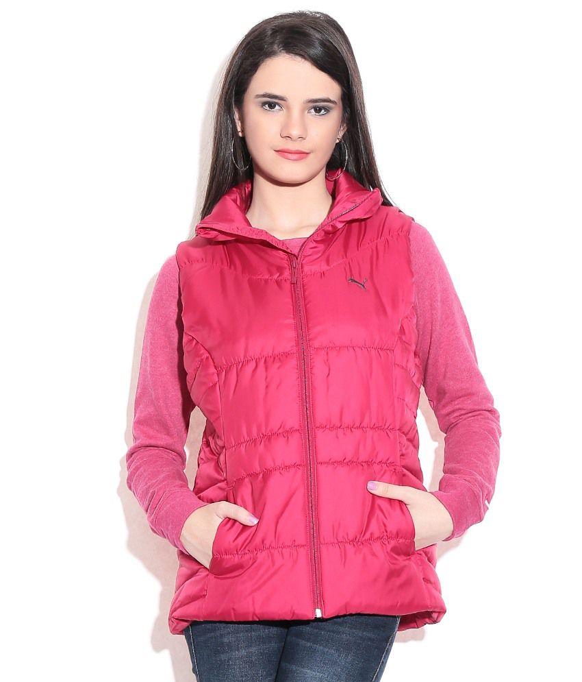 Puma Red Sleeveless Jacket