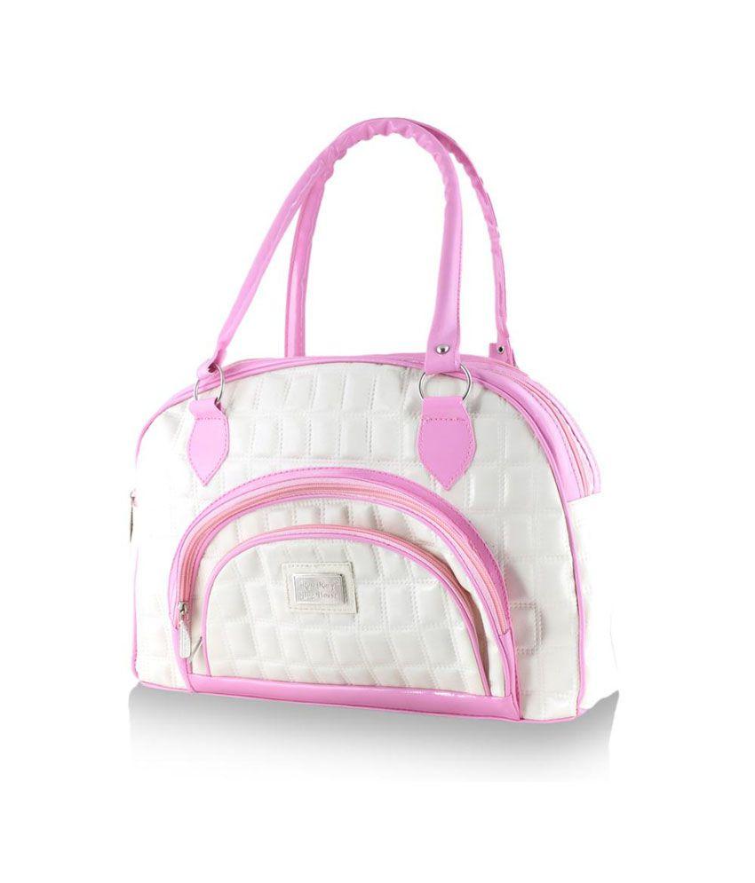 Smartways Bag White With Pink Shoulder Bag