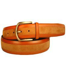 Leather Plus Light Tan Casual Belt For Men