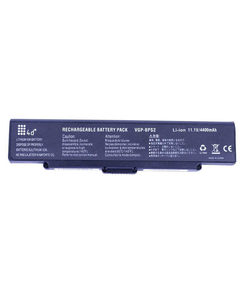 4D Sony Vaio VGN-FS790 6 Cell Laptop Battery