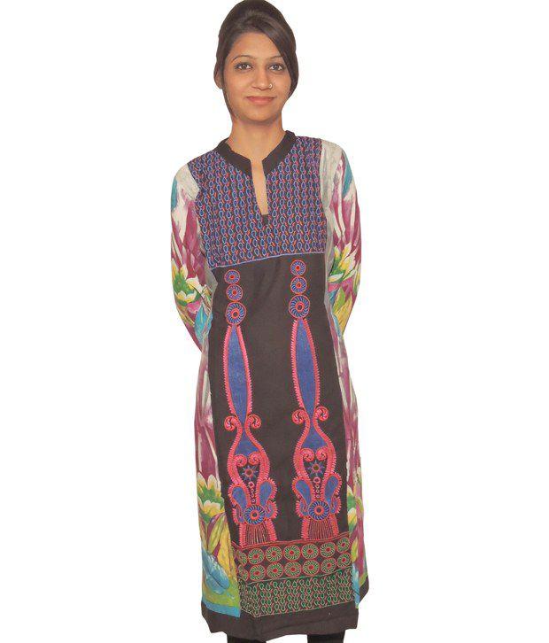 Digital Rajasthan Designer Cotton Kurti With Heavy Work