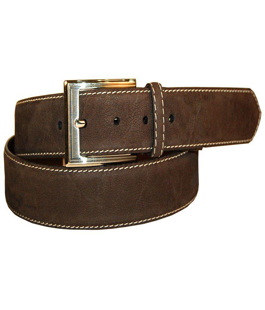 Leather Plus Elegant Brown Formal Belt For Men