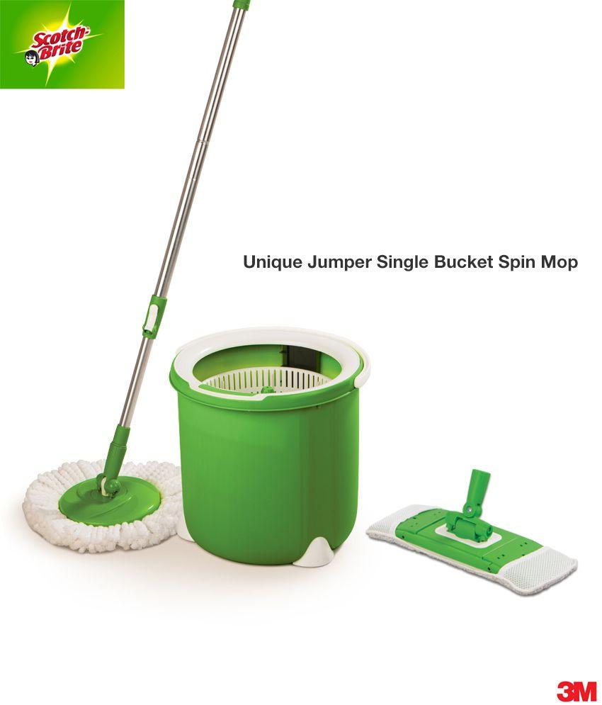 Scotch brite bathroom floor cleaner refills - Scotch Brite Jumper Spin Mop With Round And Flat Head Refills
