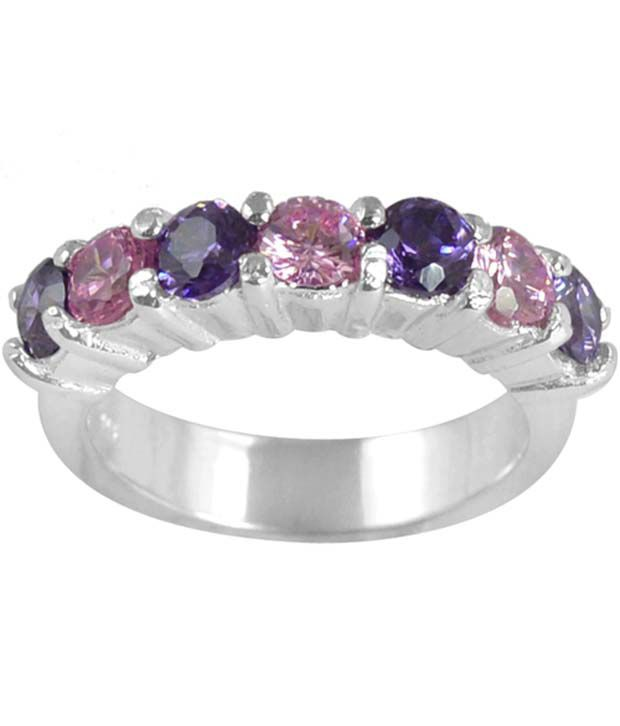 Arsh Crown Sky Dominion 3.00 Ctw Cubic Zirconia 925 Sterling Silver Ring
