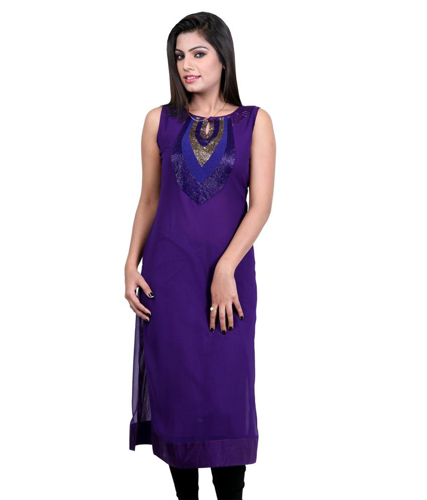 India Colors Purple Kurti