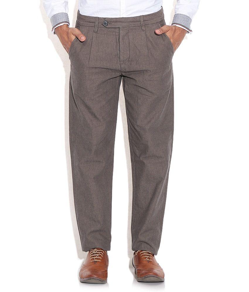 Jack & Jones Khaki Regular Trousers & Chinos