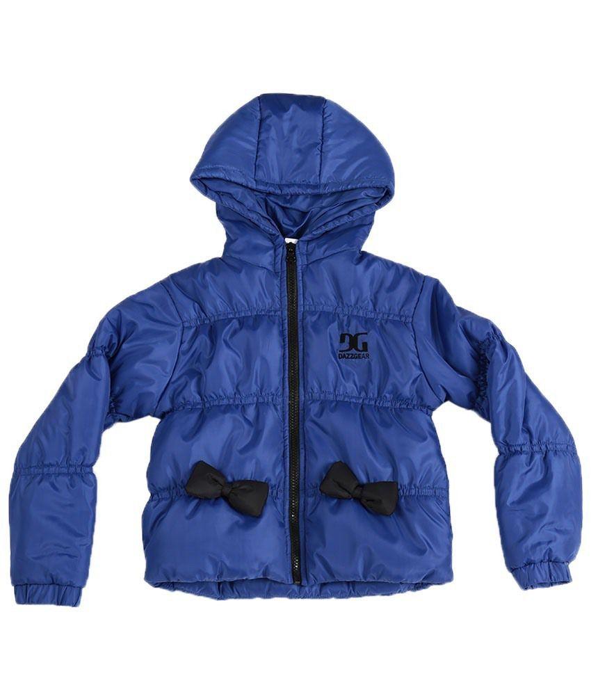 Dazzgear Stylish Blue Hooded Jacket For Kids