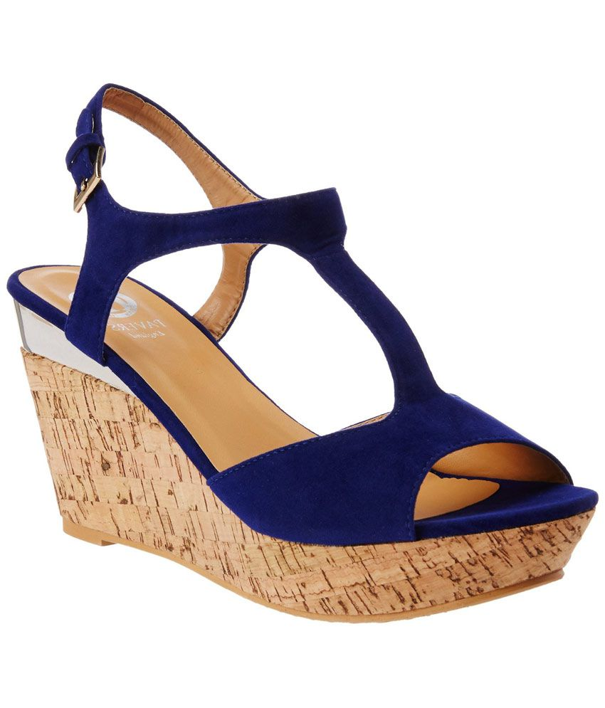 01a11a7695bf Pavers England Blue Wedges Price in India- Buy Pavers England Blue Wedges  Online at Snapdeal