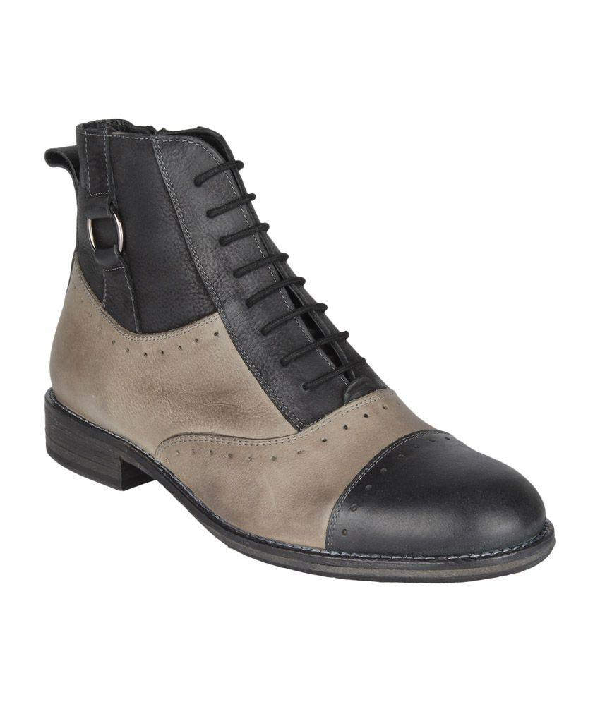 Salt 'n' Pepper Black Boots