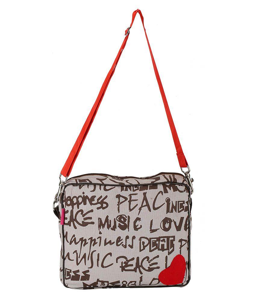 The Jute Shop: I Luv Peace Women Hand Bag