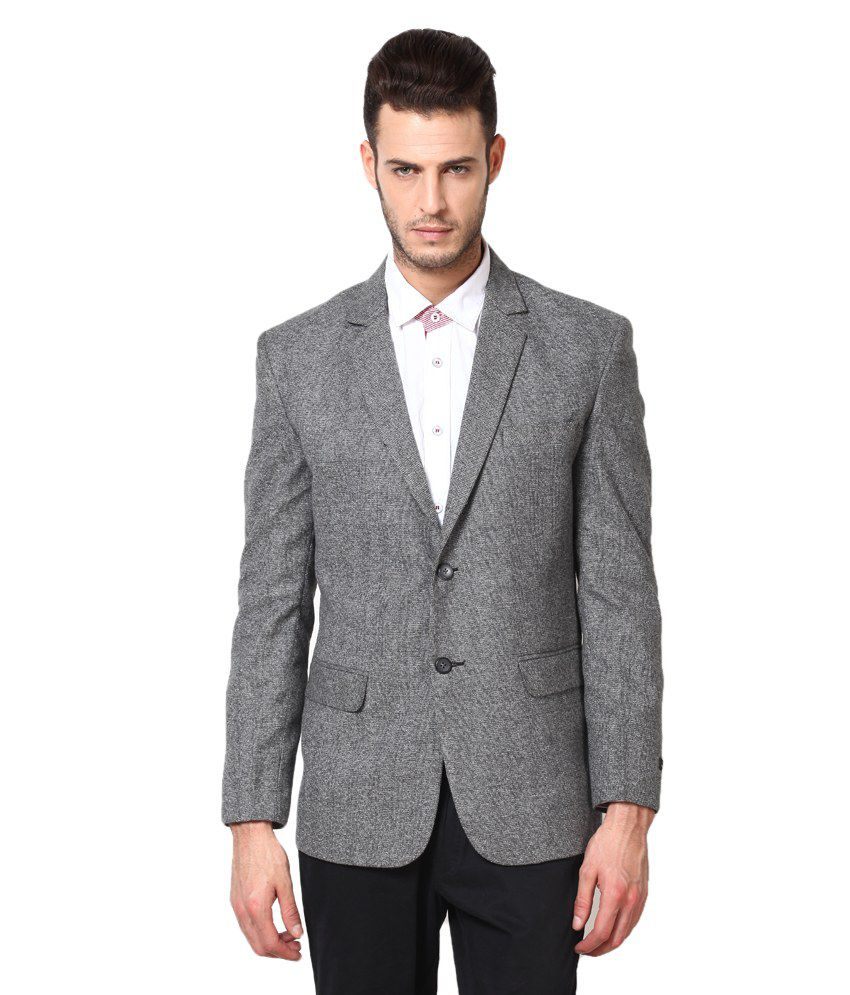 f280768cc1f Gray Semi-formal Blazer - Buy Gray Semi-formal Blazer Online at Best Prices  in India on Snapdeal