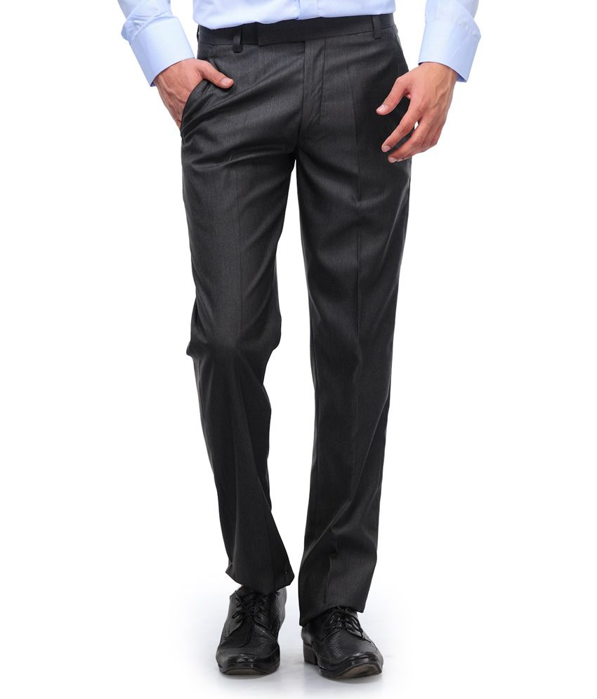 Kiosha Black Cotton Blend Trouser