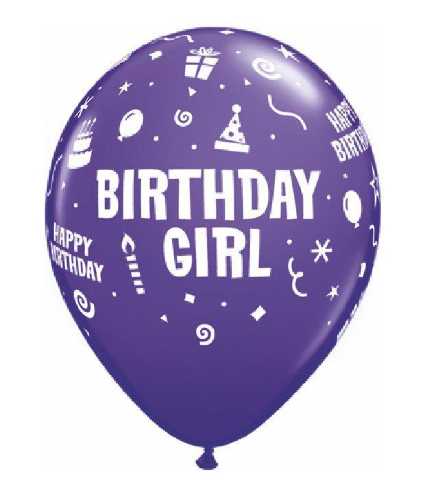 Fusion Balloons Birthday Girl Balloon