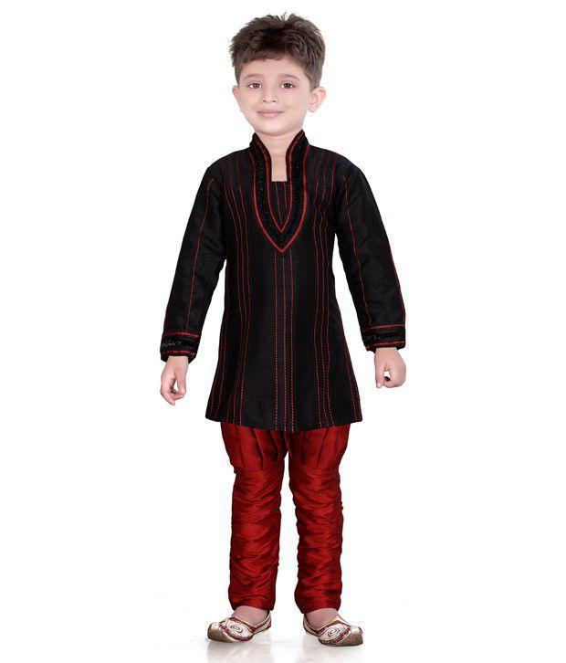 Jeet Jeet Stylish Black Kurta Suit For Boys