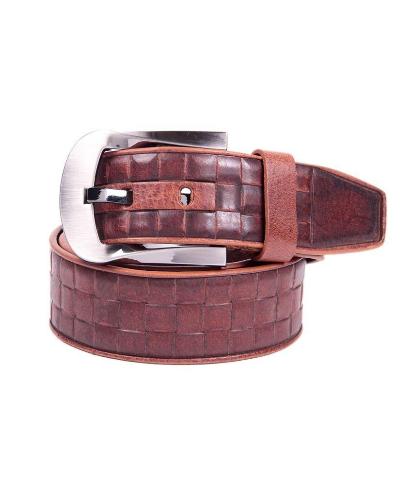La Decor Tan Leather Pin Buckle Belt
