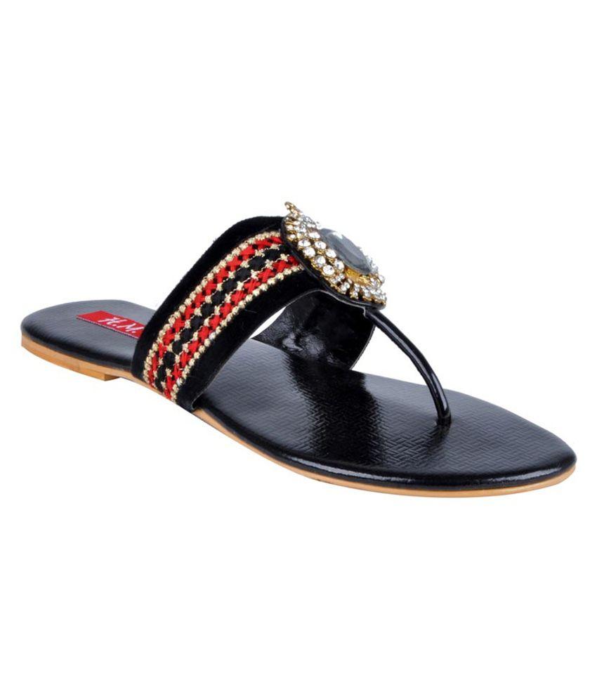 Hm Black Back Open Cutout Sandal