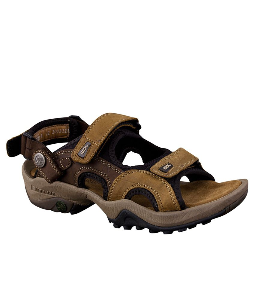 697acd074b5e Woodland Leather Brown Sandals Art AGD1033111CAM - Buy Woodland Leather  Brown Sandals Art AGD1033111CAM Online at Best Prices in India on Snapdeal