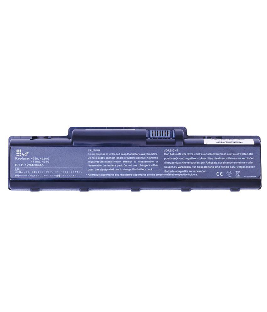 4d Acer Aspire 4530 6 Cell Laptop Battery