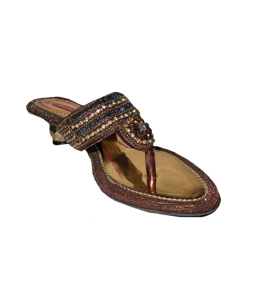Aaron Yellow Embroidary Sandal Women Sandal