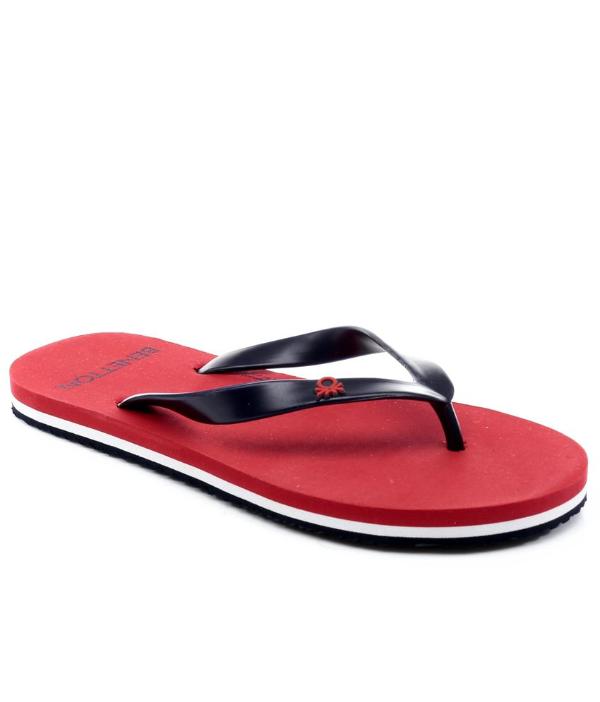 sale very cheap cheap sale the cheapest United Colors of Benetton Red Daily Slippers footaction cheap perfect new cheap online fIdOLGN5