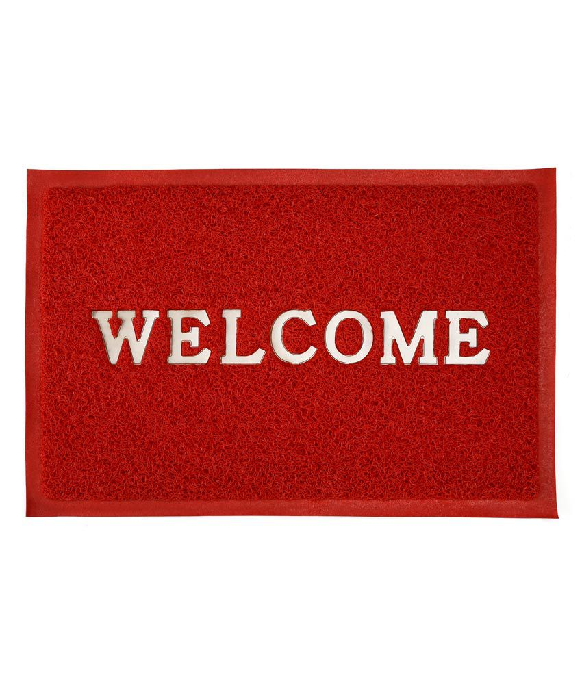 Urban Style Floor Fashion Welcome Pvc Red Door Mat # Wld 01
