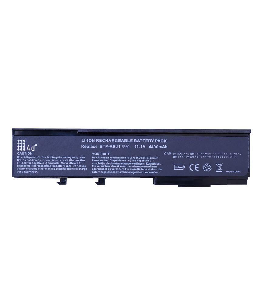 4d Acer Aspire 2424wxm 6 Cell Laptop Battery