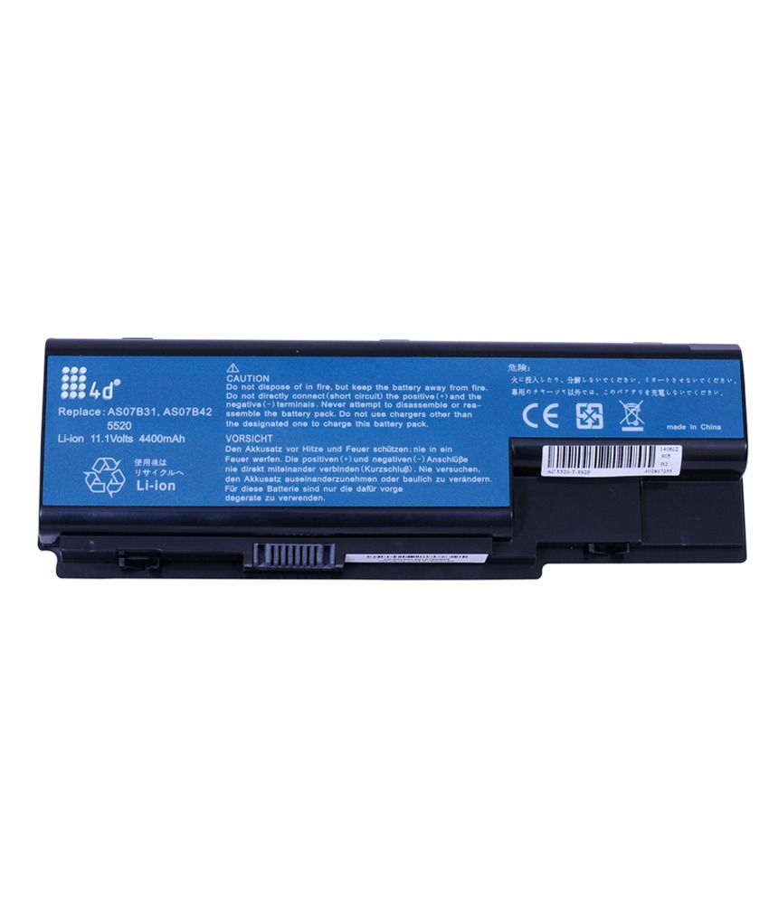 4d Acer Aspire 5920g-601g16f 6 Cell Laptop Battery