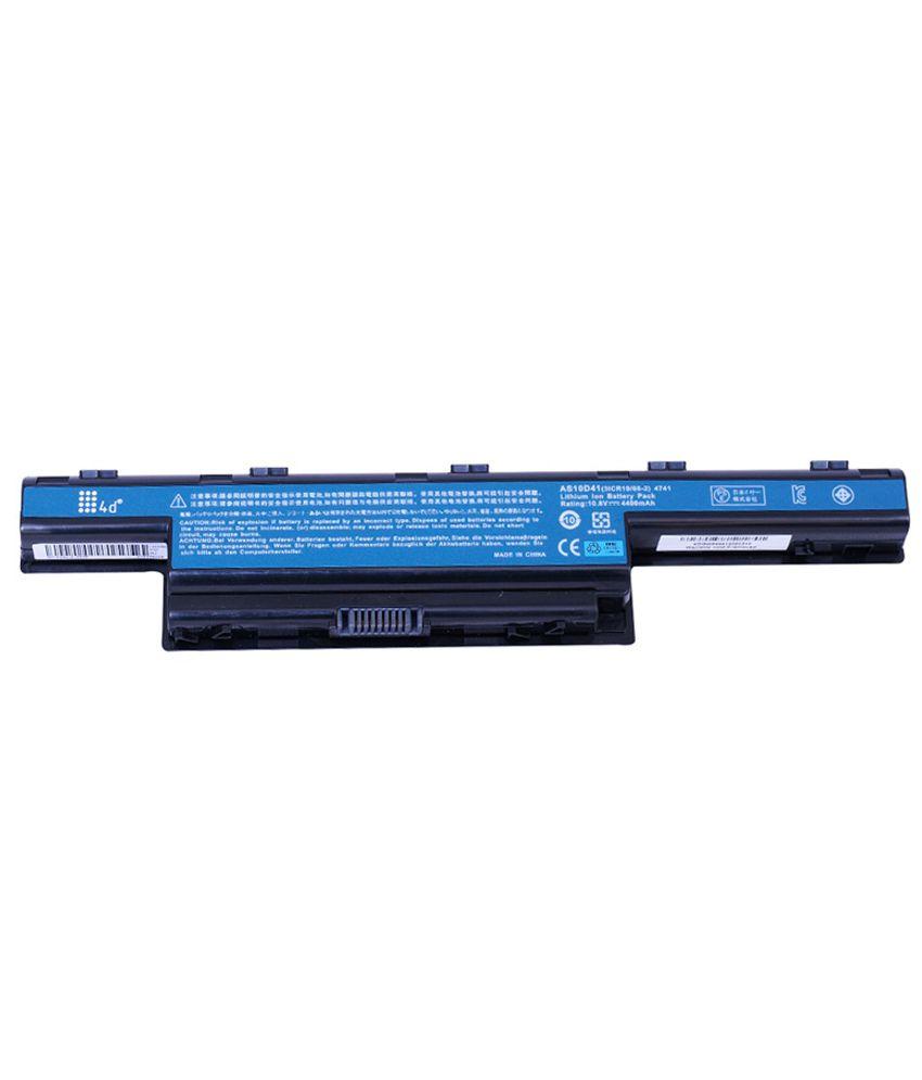 4d Acer Aspire 7741g-434g50mn 6 Cell Laptop Battery