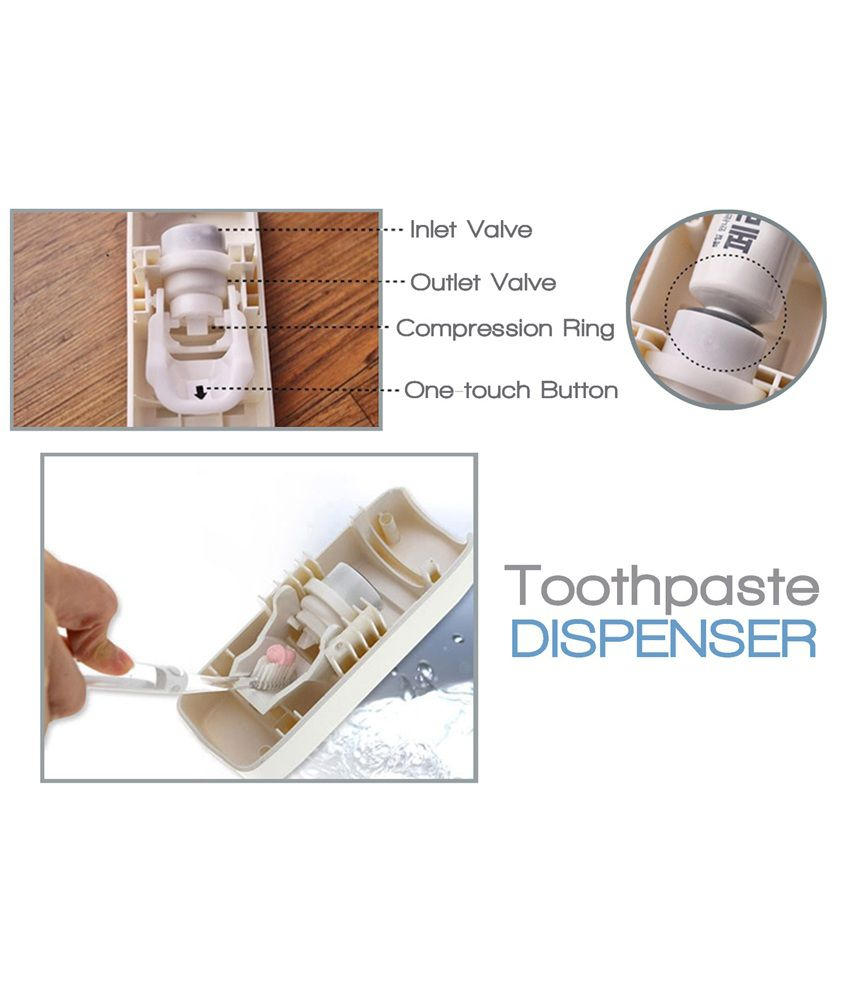 Packnbuy Touch Me Toothpaste Dispenser Red