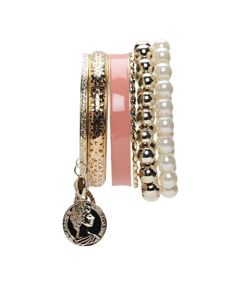 Esmartdeals Traditional Platinum Pearl Bracelet