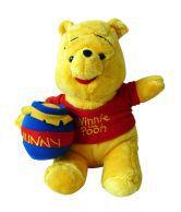 Disney Pooh With Honey Pot Soft Toy - 25.4 Cm