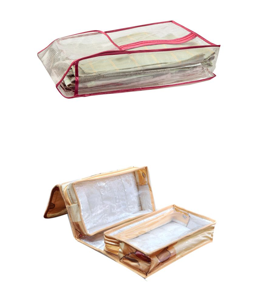 Fashionista Multicolour Combo of Suit Cover and Double Box Toiletry Clutch Kit