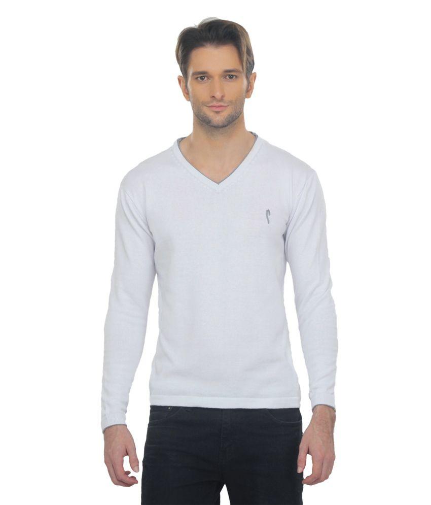 Stride White V-neck T-shirt