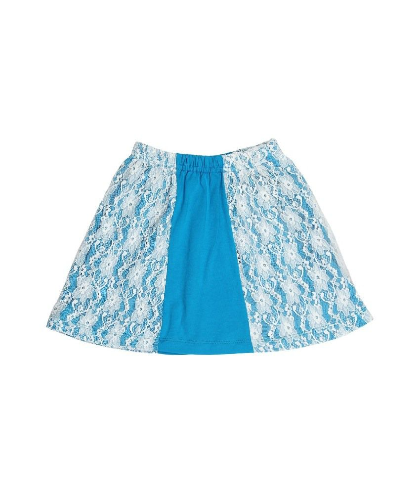 Dreamszone Blue Color Skirts For Kids