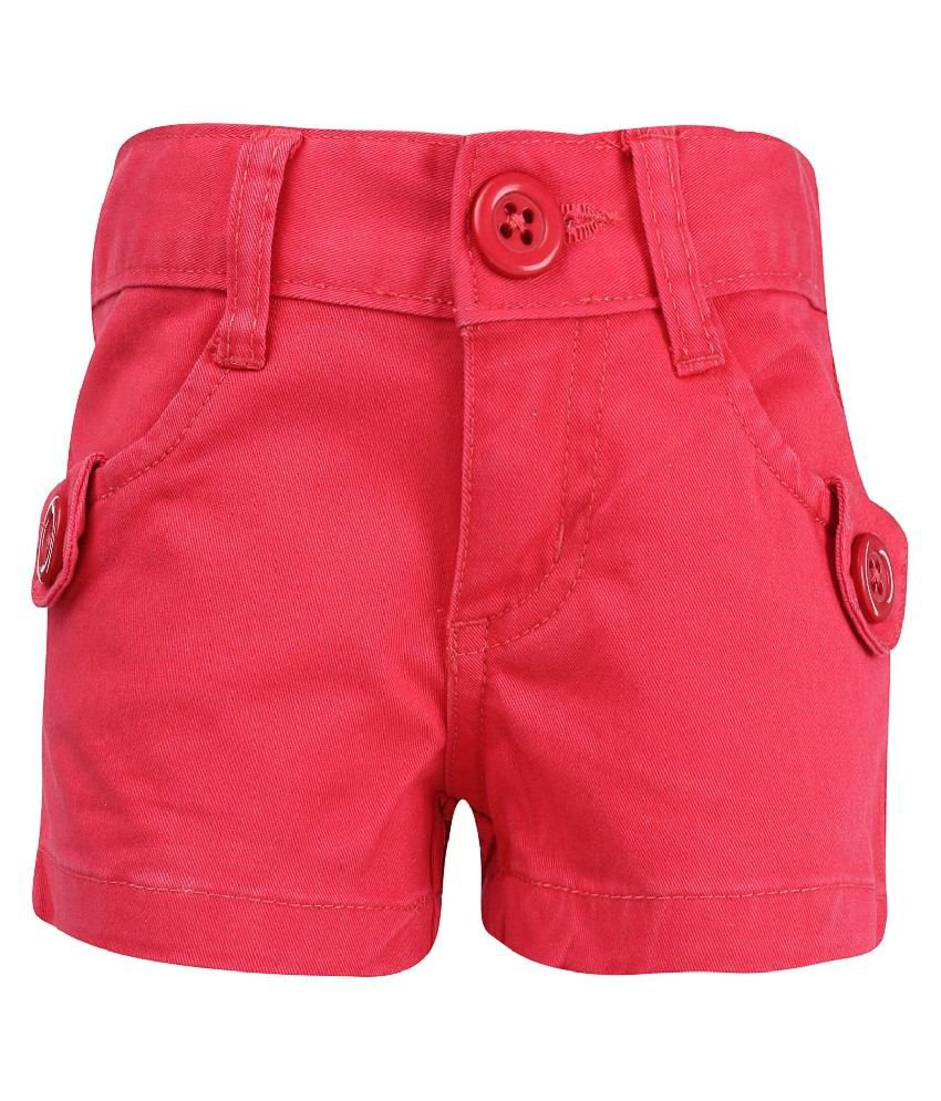 Dreamszone Red Color Shorts For Kids