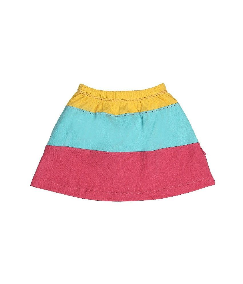 Dreamszone Yellow & Green Color Skirts For Kids