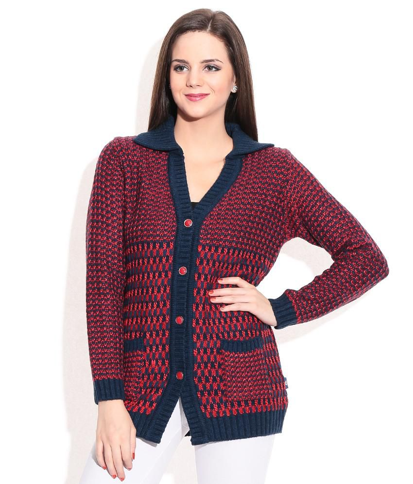Buy Monte Carlo Maroon Woollen Shawl Collar Buttoned Cardigan Online at  Best Prices in India , Snapdeal