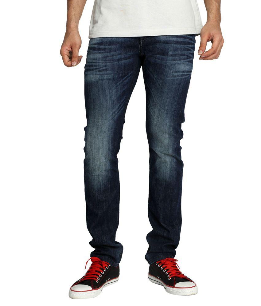Rookies Blue Slim Fit Jeans