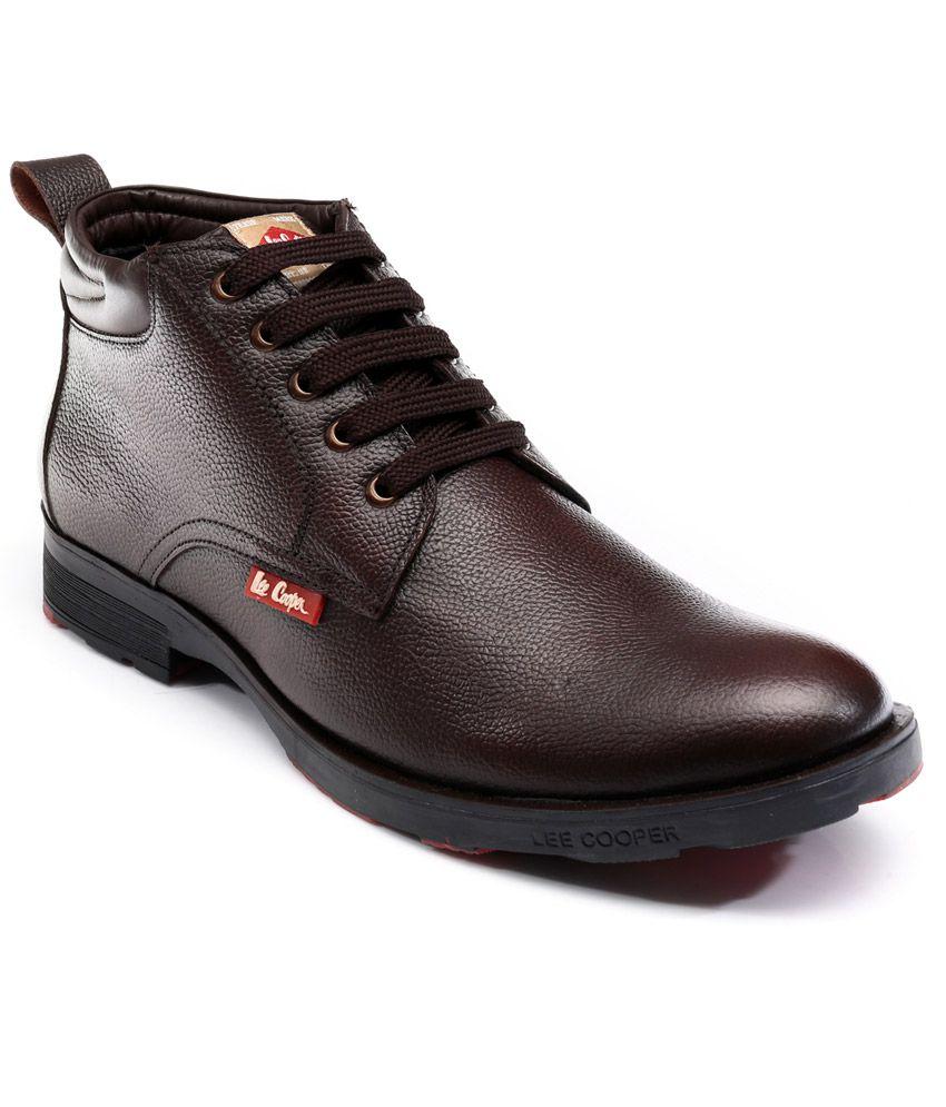7d1e98aff5 Lee Cooper Brown Formal Boot - Buy Lee Cooper Brown Formal Boot Online at  Best Prices in India on Snapdeal