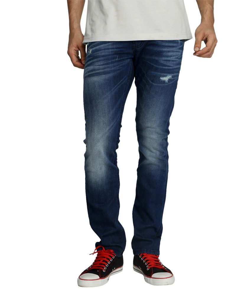 Rookies Blue Slim Fit Jeans