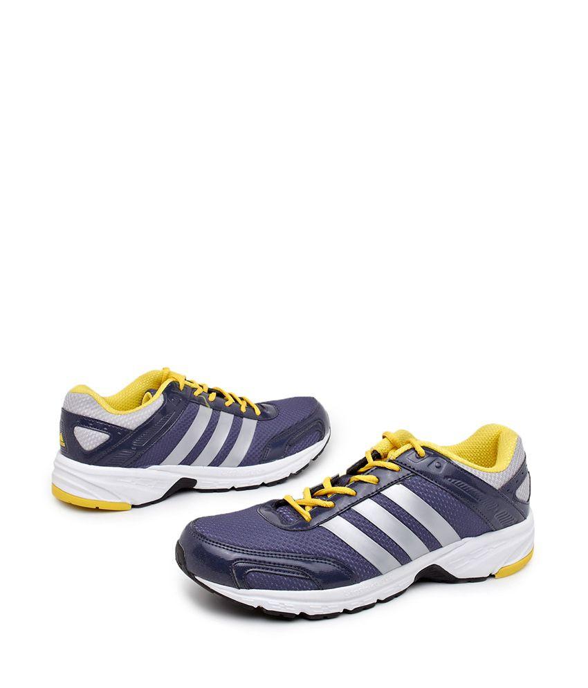 adidas dark blue breathable running shoes