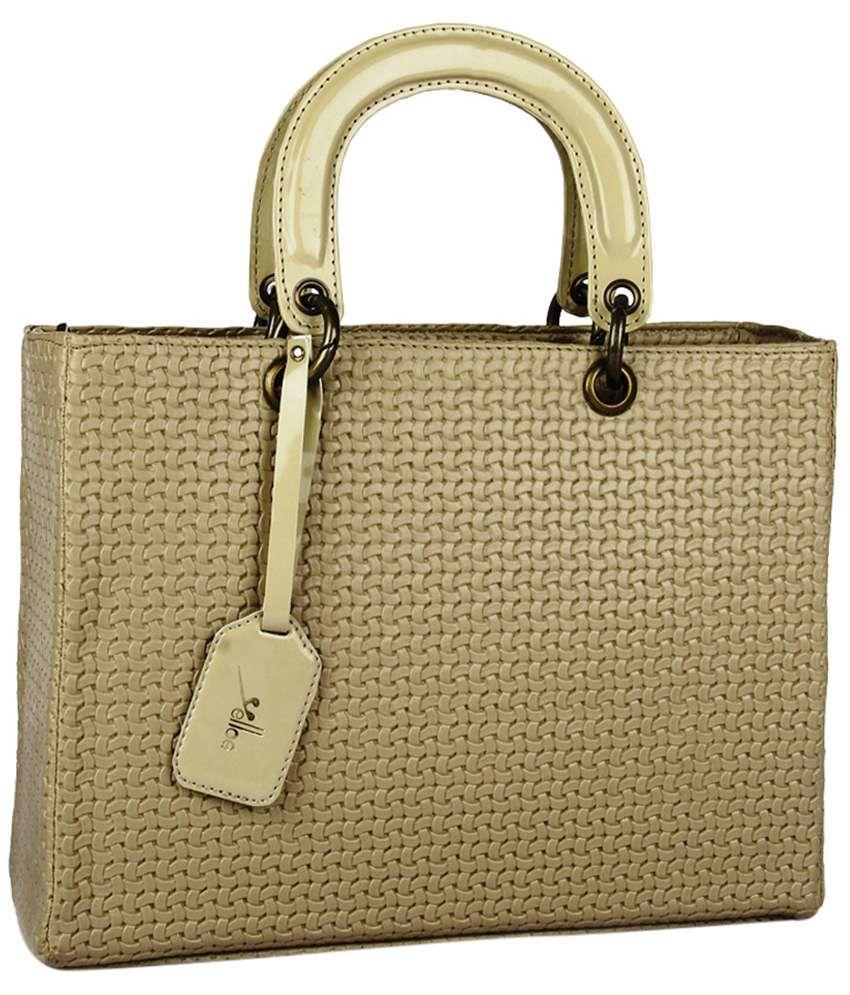 Yelloe Beige Satchel Bag